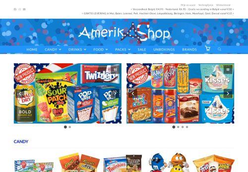 Screenshot van amerikashop.be