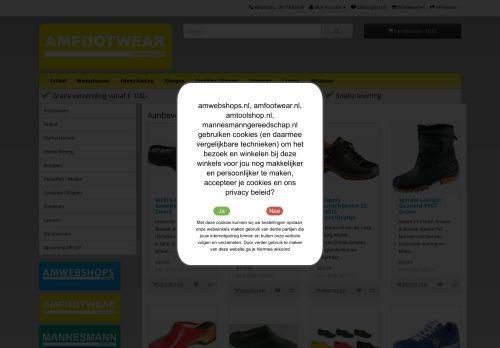 Screenshot van amfootwear.nl