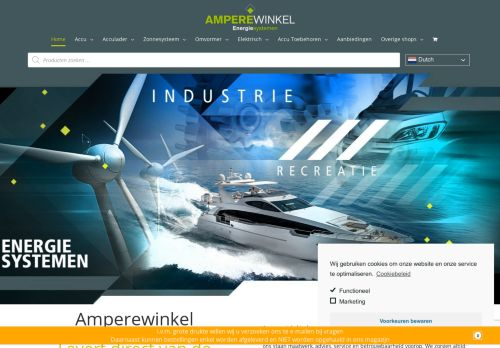 Screenshot van amperewinkel.nl