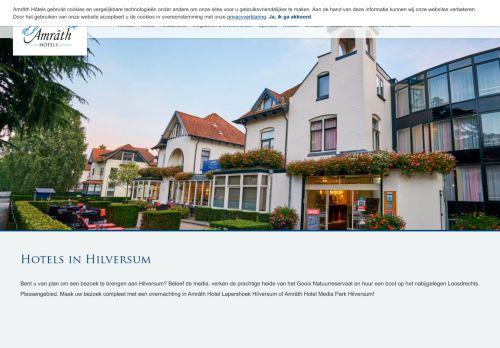 Screenshot van amrathhotelhilversum.nl
