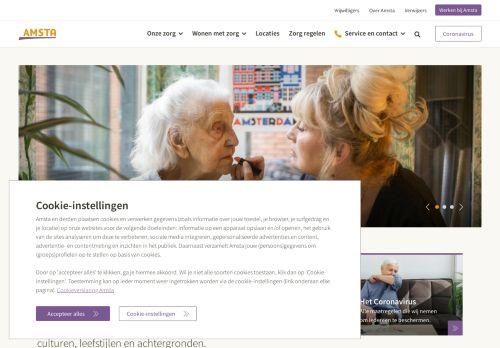 Screenshot van amsta.nl