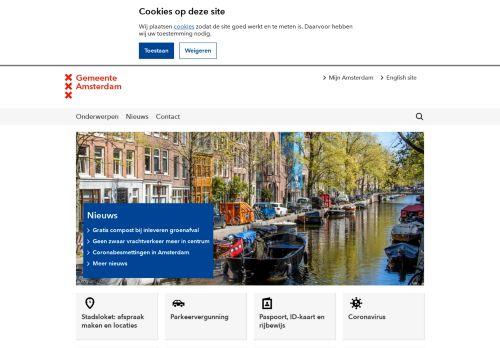 Screenshot van amsterdam.nl