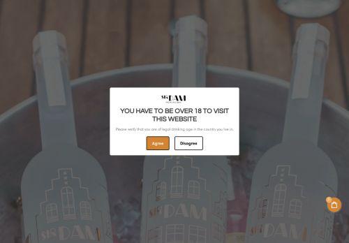 Screenshot van amsterdamvodka.com