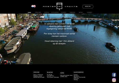 Screenshot van amsterdamyachts.com