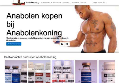 Screenshot van anabolen-koning.net