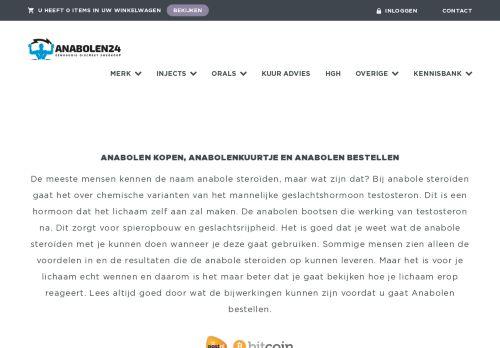 Screenshot van anabolen24.nl