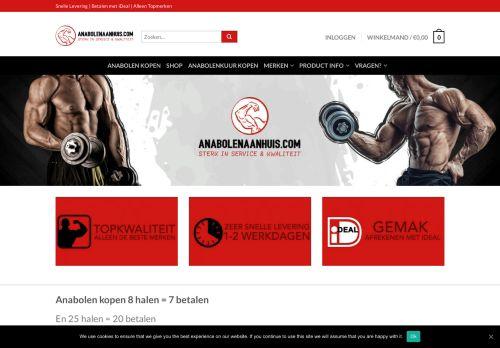 Screenshot van anabolenaanhuis.com