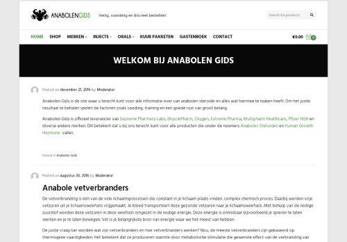 Screenshot van anabolengids.nl
