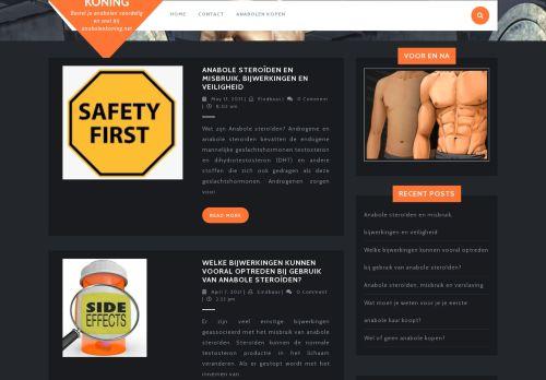 Screenshot van anabolenkoning.net