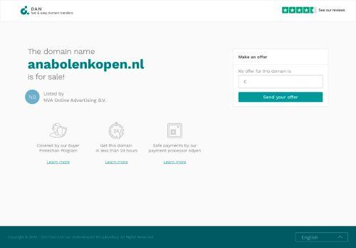 Screenshot van anabolenkopen.nl