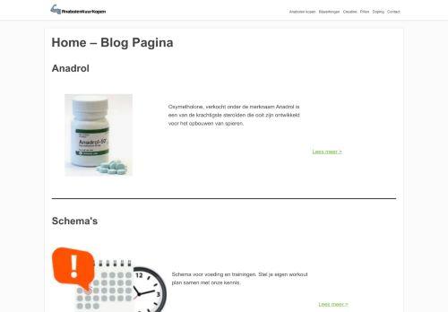 Screenshot van anabolenkuurkopen.nl
