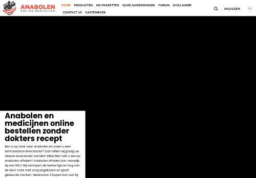 Screenshot van anabolenonlinebestellen.nl