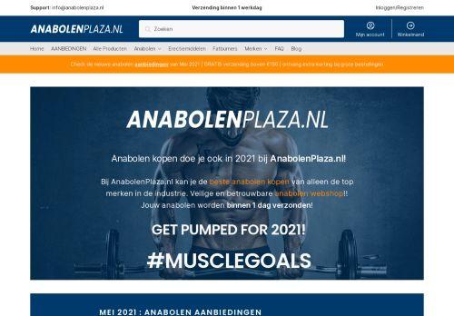 Screenshot van anabolenplaza.nl