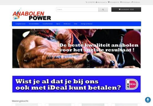 Screenshot van anabolenpower.com