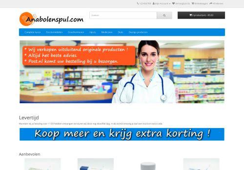 Screenshot van anabolenspul.com