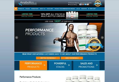 Screenshot van anabolics.com