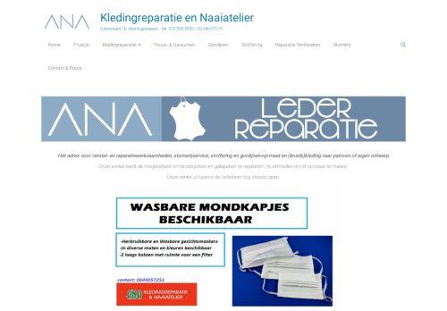 Screenshot van anakleding.nl