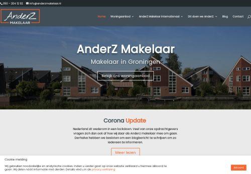 Screenshot van anderzmakelaar.nl