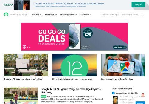 Screenshot van androidplanet.nl