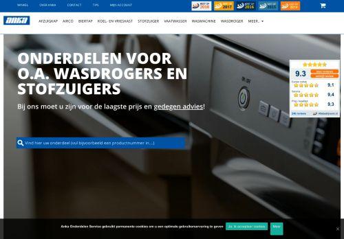Screenshot van ankaonderdelenservice.nl