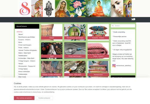 Screenshot van annacolours.nl