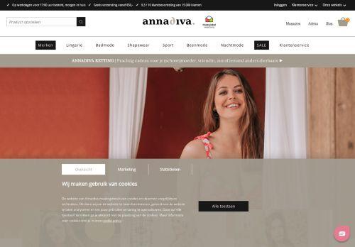 Screenshot van annadiva.nl