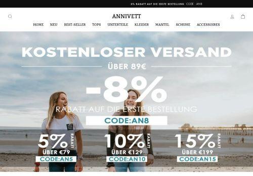 Screenshot van annivett.com