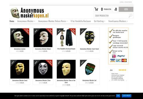 Screenshot van anonymousmaskerkopen.nl