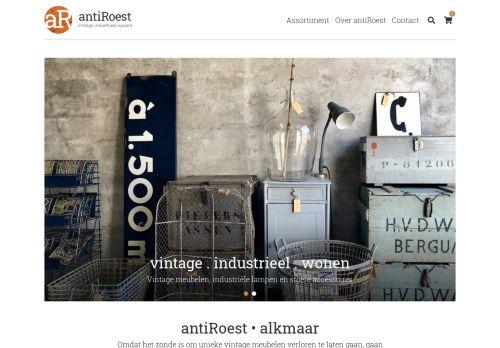 Screenshot van antiroest-vintagedesign.nl