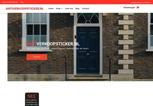 Screenshot van antiverkoopsticker.nl