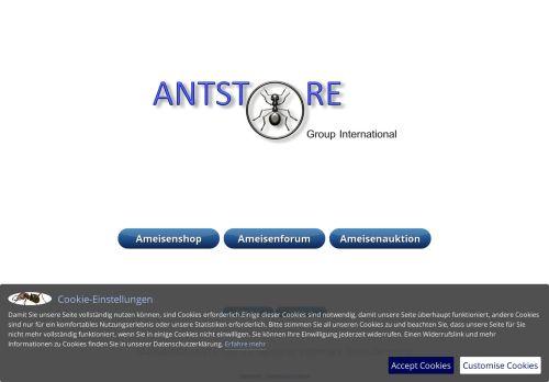 Screenshot van antstore.net