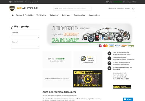 Screenshot van ap-auto.nl