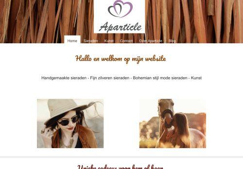 Screenshot van aparticle.nl