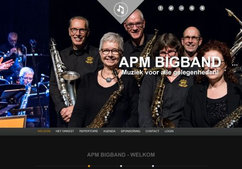 Screenshot van apmbigband.nl