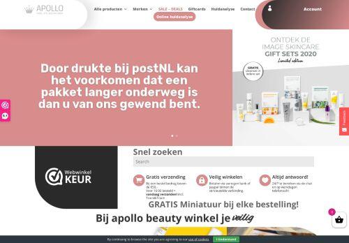 Screenshot van apollobeautyshop.nl