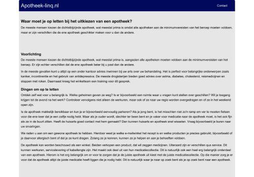 Screenshot van apotheek-linq.nl
