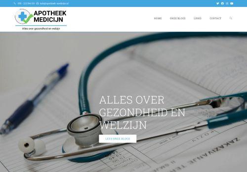 Screenshot van apotheek-medicijn.nl