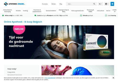 Screenshot van apotheek-online.be