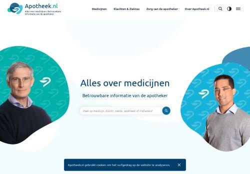 Screenshot van apotheek.nl