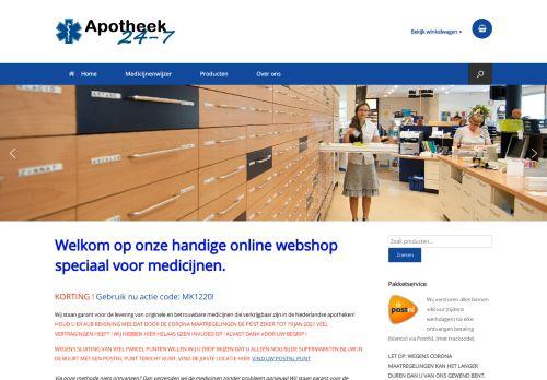 Screenshot van apotheek24-7.com
