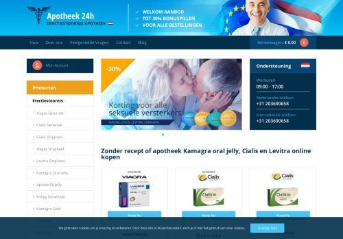 Screenshot van apotheek24h.com