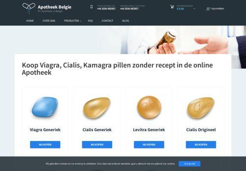 Screenshot van apotheekbelgie.com