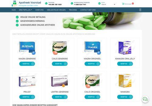 Screenshot van apotheekvoorstad.nl