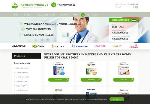 Screenshot van apotheekwinkel24.com