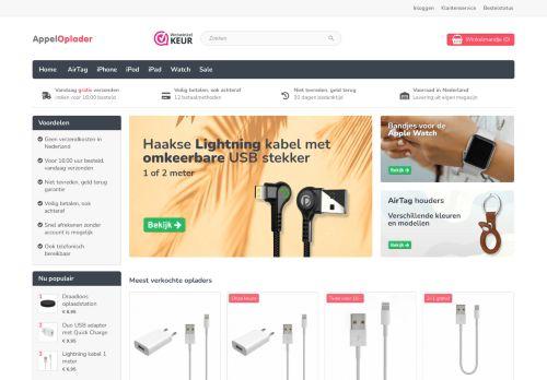 Screenshot van appeloplader.nl
