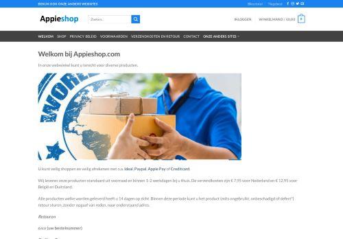 Screenshot van appieshop.com