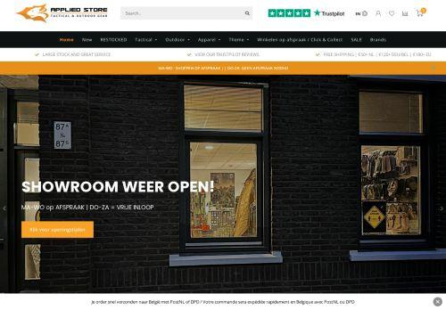 Screenshot van applied-store.nl