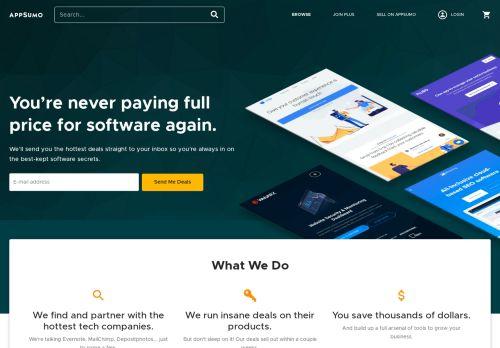 Screenshot van appsumo.com