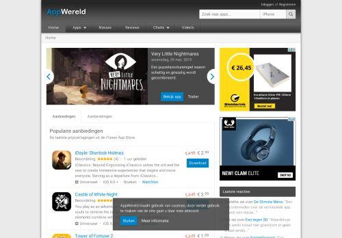 Screenshot van appwereld.nl
