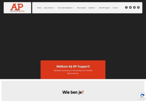 Screenshot van apsupport.nl